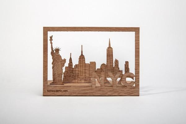 """Zedernholz Postkarte """"New York"""""""