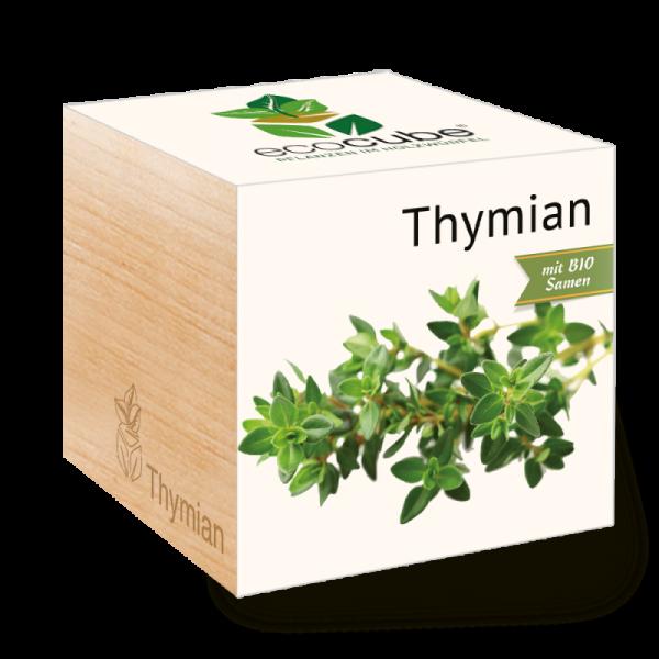 """Ecocube Pflanze im Holzwürfel """"Thymian"""""""