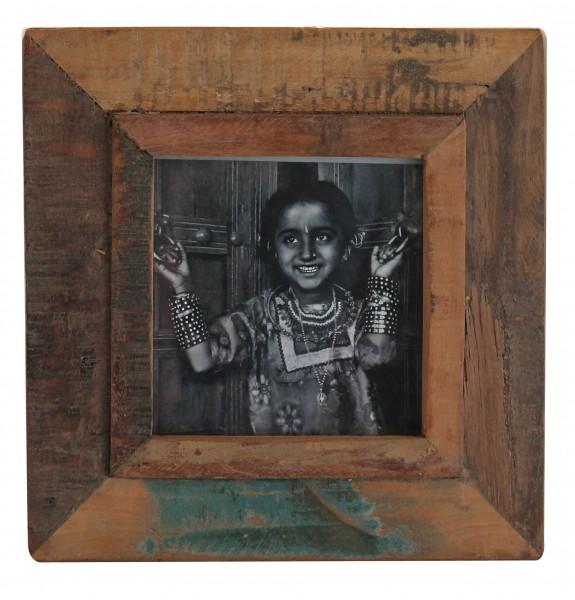 "Fundholz Recycling Bilderrahmen ""Quadrat Fino"", 28cm x 28cm"