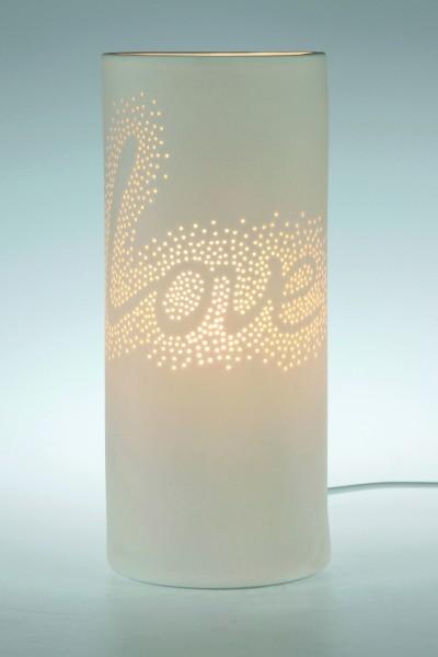 Porzellanlampe Zylinder 9 S