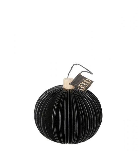 Recycling Weihnachtsbaumkugel, schwarz