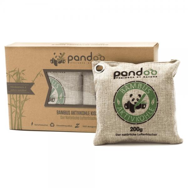 Natürliche Lufterfrischer mit Aktivkohle (u.a. aus Bambus) 2 Kissen á 200 Gramm
