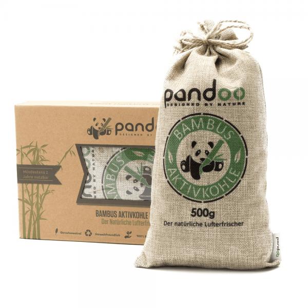 Natürlicher Lufterfrischer mit Aktivkohle (u.a. aus Bambus) 1 Kissen á 500 Gramm