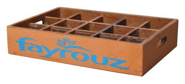 """Fundholz Recycling Getränketablett """"Fayrouz"""", orange-blau"""