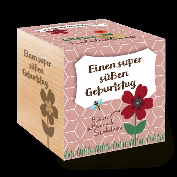 Green Celebrations - Schokoladenblume - einen super süßen Geburtstag