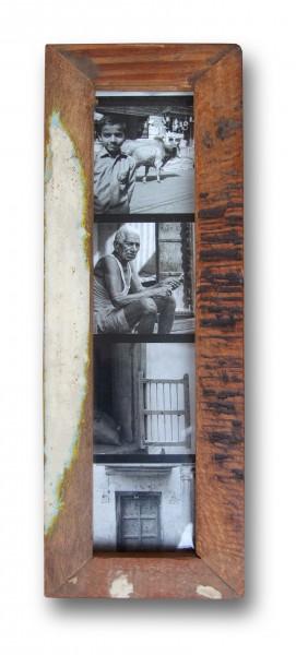 "Fundholz Recycling Bilderrahmen ""Photopix-Passbilder"" 24x8cm"