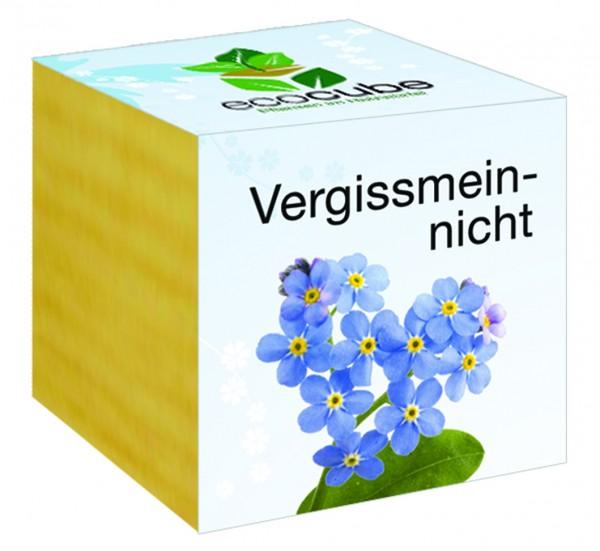 """Ecocube Pflanze im Holzwürfel """"Vergissmeinnicht"""""""