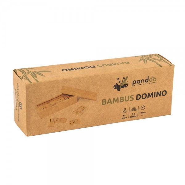Domino Doppel 6 aus Bambus