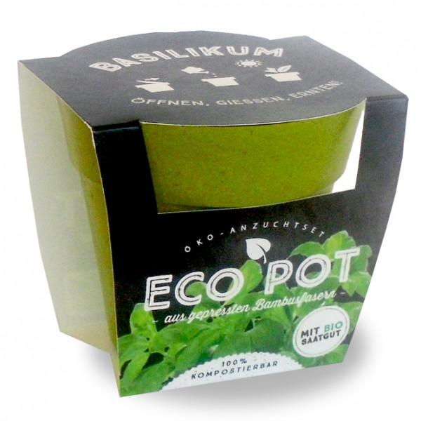"""Eco Pot - Anzuchtset """"Basilikum"""""""