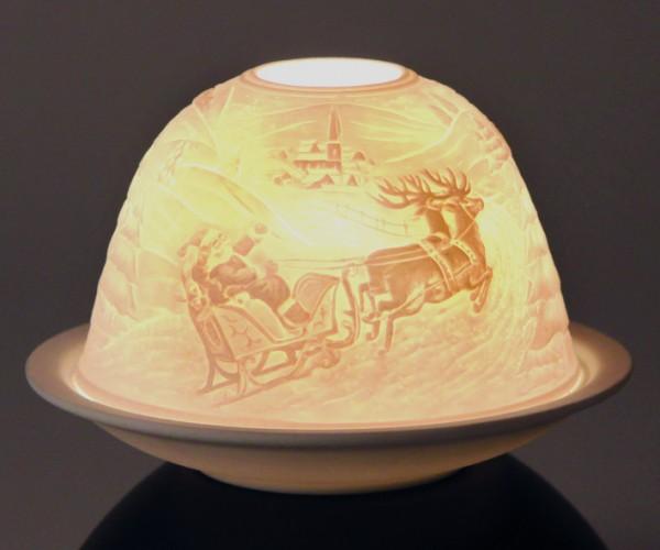 """Dome-Lights """"Weihnachtsmann und Rentier"""""""