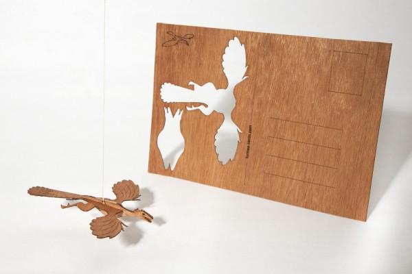 """Zedernholz Postkarte - """"Archaeopteryx"""""""